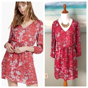 Lucky Red Floral Dress 3/4